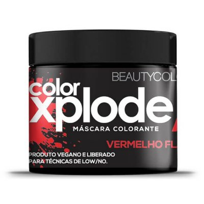 Máscara Colorante Color Xplode Vermelho Flame 300g - Beauty Color