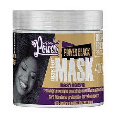 Máscara Intensiva Power Black Master Mask 400g - Soul Power