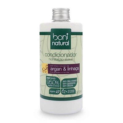 Condicionador Hidratação Suave Argan e Linhaça 500ml - Boni Natural