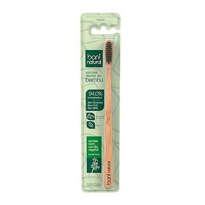 Escova Dental de Bambu Ecológica e Biodegradável - Boni Natural