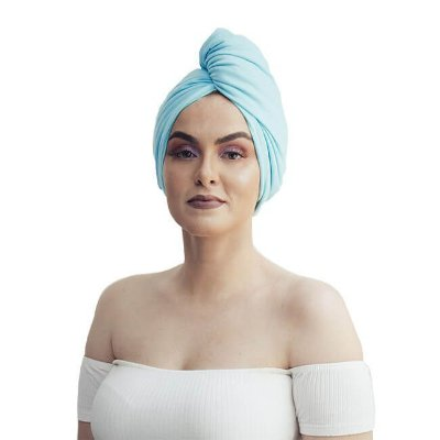 Toalha de Malha Turbante Azul Piscina - Turban