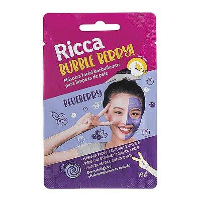 Máscara Facial Borbulhante Limpeza de Pele Bubble Berry 10g - Ricca