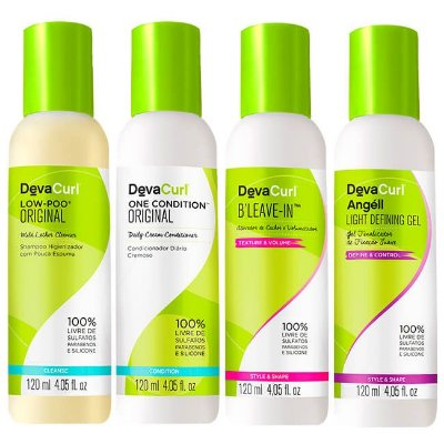 COMBO DevaCurl Low Poo 120ml + One Condition 120ml + Angéll 120ml + B'Leave-in 120ml - 4 itens
