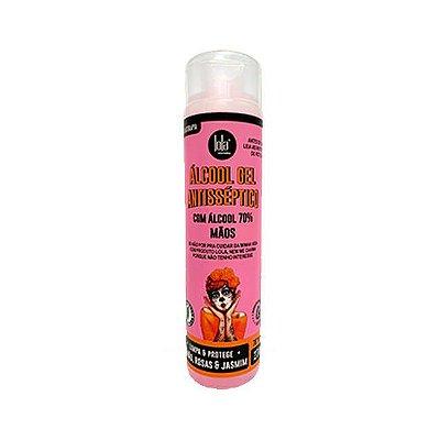 Álcool em Gel - Antisséptico Rosas e Jasmim 270g - Lola Cosmetics