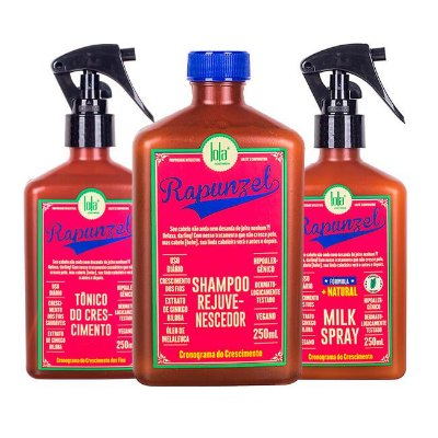 COMBO Rapunzel Shampoo 250ml + Tônico 250ml + Milk Spray 250ml