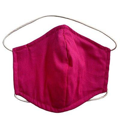 Máscara de Tecido Tripla Camada com Elástico na Cabeça e Pescoço - Pink Tam G - Turban