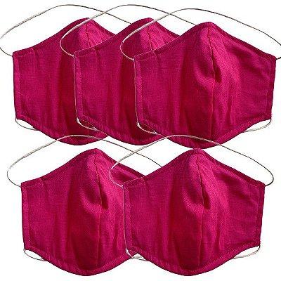 COMBO Máscara de Tecido Tripla Camada com Elástico na Cabeça e Pescoço - Pink Tam M - Turban