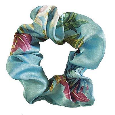 Xuxinha de Cetim Céu de Flores - Turban