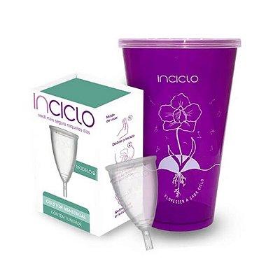 Kit 2x1 Coletor Menstrual B + Copo Esterilizador - Inciclo