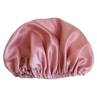 Touca de Cetim Rosé - Turban