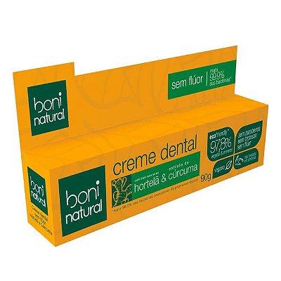 Creme Dental Hortelã e Cúrcuma 90g - Boni Natural