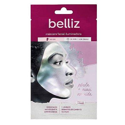 Máscara Facial Iluminadora com Pérola - Belliz