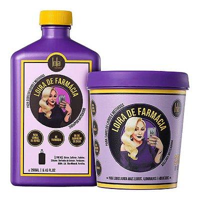 COMBO Loira de Farmácia - Shampoo 250ml + Máscara 230g