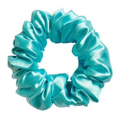 Xuxinha de Cetim Azul Piscina - Turban