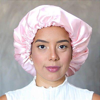 Touca de Cetim Rosa Bebê - Turban