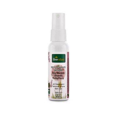 Desodorante Natural - Aloe Gerânio, Lavanda e Ylang-ylang - LiveAloe - 60ml