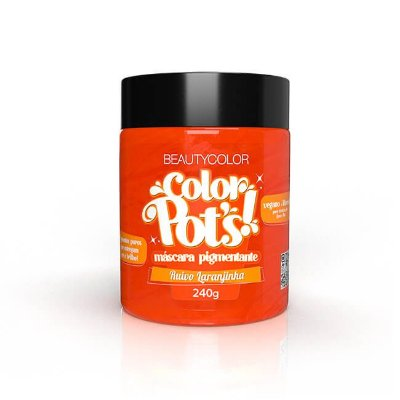 Máscara Pigmentante Color Pot's! Ruivo Laranjinha 240g - Beauty Color