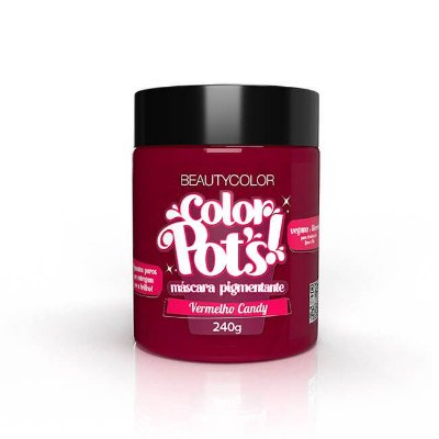 Máscara Pigmentante Color Pot's! Vermelho Candy 240g - Beauty Color