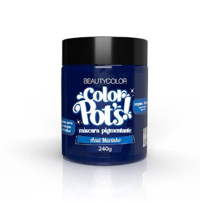 Máscara Pigmentante Color Pot's! Azul Marinho 240g - Beauty Color