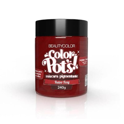 Máscara Pigmentante Color Pot's! Ruivo Foxy 240g - Beauty Color