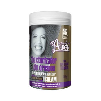 Creme Para Pentear Power Black Big Black Cream 800g - Soul Power
