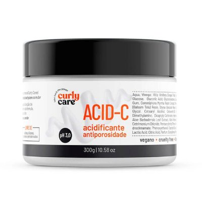 Acid-C Acidificante Antiporosidade 300mL - Curly Care