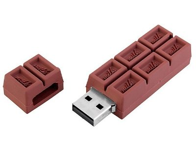 Pen Drive Barra de Chocolate 4GB