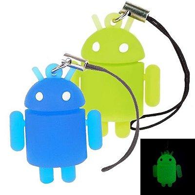 Pingente Android que brilha no escuro