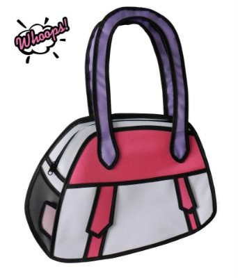 Bolsa de ombro 2D Sugarplum - Pink