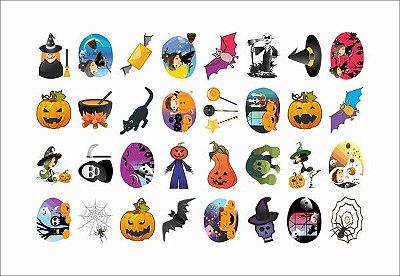 Tatuagem temporária infantil - Halloween (32 unidades)