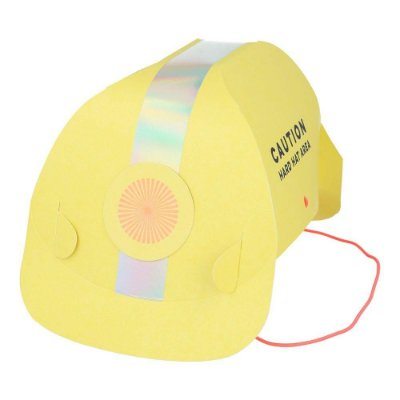 Chapéus de papel - Capacete Construção (8 unidades - Meri Meri)