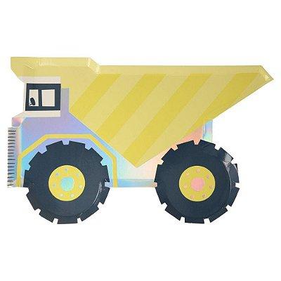 Prato de papel - Caminhão (8 unidades - Meri Meri)