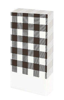 Guardanapo de mesa - Xadrez Preto (20 unidades)