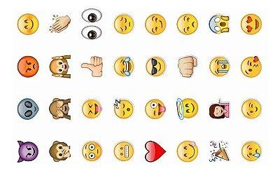 Tatuagem temporária infantil - Emojis (32 unidades)