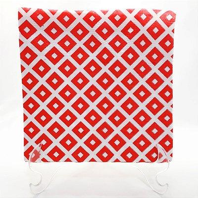 Guardanapo de papel Vermelho geométrico - 33x33cm (10 unidades)