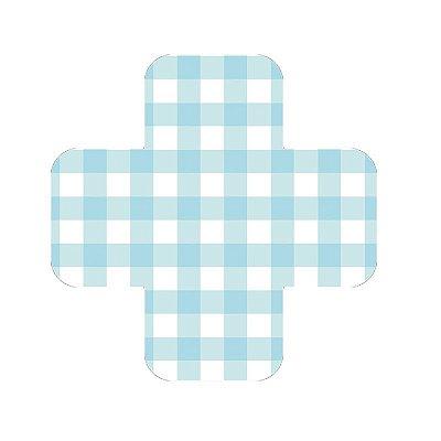 Forminha de doce - Vichy / Xadrez Azul claro (3 cm - 25 unidades)