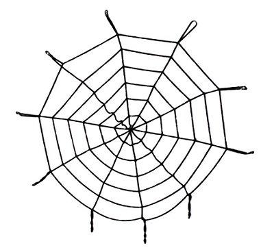 Toalha Teia de Aranha Halloween (9 círculos - 360 cm)