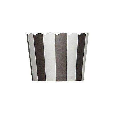 Formas de papel forneáveis para Cupcake - Preto (20 unidades)