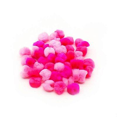 Pompom cute - Tons de Rosa (2 cm)