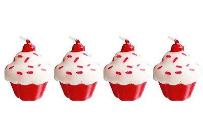 Velas de aniversário - Cupcake (4 unidades)