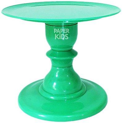 Boleira com pé torneado - Verde