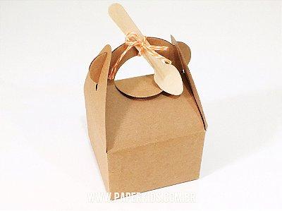 Caixa de papel kraft para lembrança (Trapézio - 8 un)
