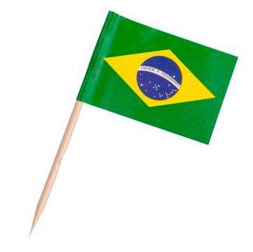 Pick dupla face - Bandeira Brasil (100 unidades)