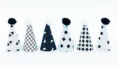 Chapéu decorativo P Duo com pompom - 6 un (5.5x3cm)