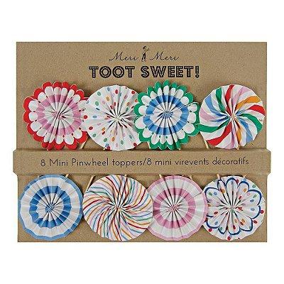 Toppers mini rosetas Toot Sweet - Meri Meri (8 unidades)