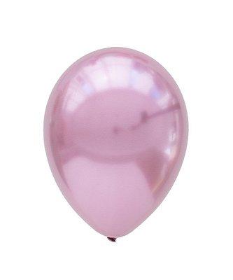 """Balão Chrome Rosa Malva - 11"""" (2 unidades)"""