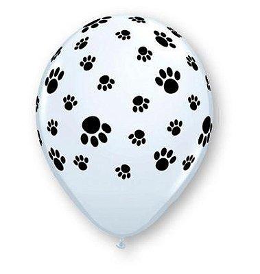 """Balão 11"""" festa pet - Patinhas (unidade)"""