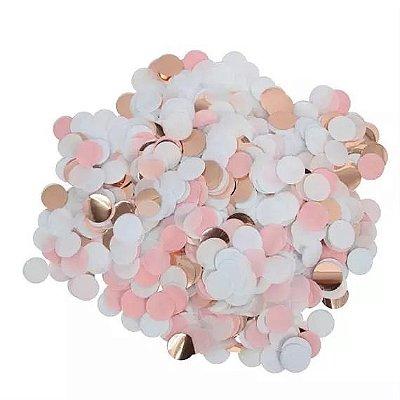 Mix confetes tons de rosa e branco - 1cm (10g)