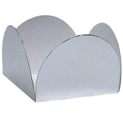 Forminha de doce - Prata 3.5 cm (50 unidades)