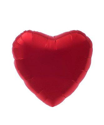 """Balão 18"""" Coração 45 cm - Vermelho (unidade)"""